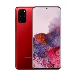 هاتف سامسونج جالاكسي اس20 بلس بسعة 128 جيجابايت وتقنية 5 جي - أحمر