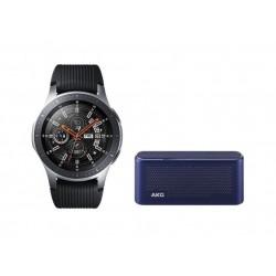 ساعة سامسونج جالكسي بحجم ٤٦ ملم - أسود/فضي + مكبر الصوت اللاسلكي إيه كي جي S30 الكل في واحد
