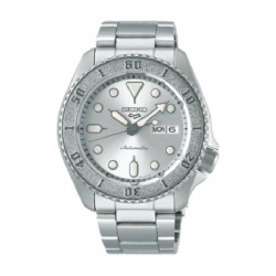 ساعة سيكو العصرية للرجال بحزام معدني و شاشة عرض تناظرية – 42.5 ملم - (RPE71K1) -  فضي