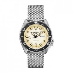 ساعة سيكو العصرية للرجال بحزام معدني و شاشة عرض تناظرية – 43 ملم - (RPE75K1) -  فضي