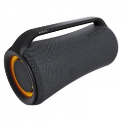 Sony XG500 X-Series Portable Wireless party Speaker orange lighting handle front side view