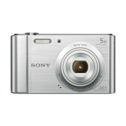 كاميرا سوني الرقمية المدمجة بدقة ٢٠ ميجابكسل – فضي (DSC-W800)