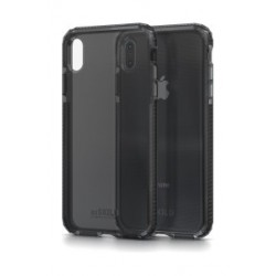 Soskild iPhone XS Max Defend Heavy Impact Case - Smokey Grey & Tempered Glass Sp