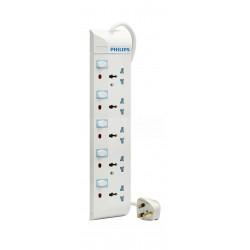 مشترك كهرباء بـ5 مخارج وكابل تمديد بطول 2 متر من فيليبس