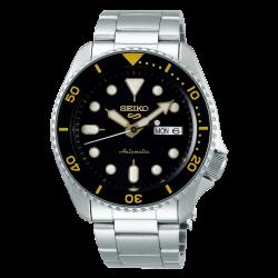 ساعة سيكو الميكانيكية للرجال بنظام عرض تناظري وسوار معدني - (RPD57K1)