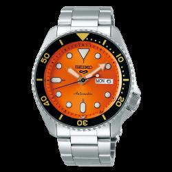 ساعة سيكو الميكانيكية للرجال بنظام عرض تناظري وسوار معدني - (RPD59K1)