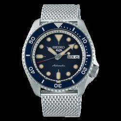 ساعة سيكو الميكانيكية للرجال بنظام عرض تناظري وسوار معدني - (RPD71K1)