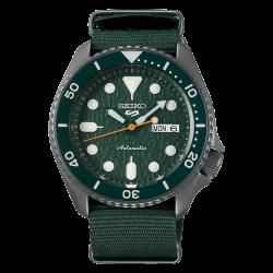 ساعة سيكو الميكانيكية للرجال بنظام عرض تناظري وسوار قماش - (RPD77K1)