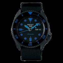 ساعة سيكو الميكانيكية للرجال بنظام عرض تناظري وسوار قماش - (RPD81K1)
