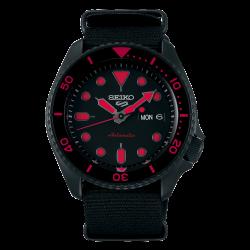 ساعة سيكو الميكانيكية للرجال بنظام عرض تناظري وسوار قماش - (RPD83K1)