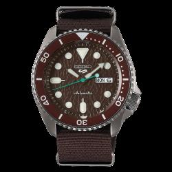 ساعة سيكو الميكانيكية للرجال بنظام عرض تناظري وسوار قماش - (RPD85K1)