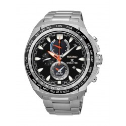 ساعة سيكو كوارتز للرجال بسوار معدني - فضي (SSC487P1)