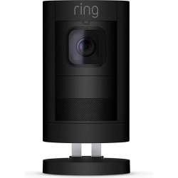 كاميرا مراقبة لاسلكية تعمل بالبطارية من ستيك أب رينج - أسود