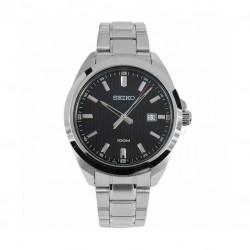 ساعة سيكو العصرية للرجال بحزام معدني و شاشة عرض تناظرية - ٤٢ ملم - (SUR277P) - فضي