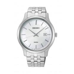 ساعة سيكو العصرية للرجال بحزام معدني و شاشة عرض تناظرية - ٤٢ ملم - (SUR289P) - فضي