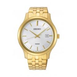 ساعة سيكو العصرية للرجال بحزام معدني و شاشة عرض تناظرية - ٤٢ ملم - (SUR296P) - ذهبي