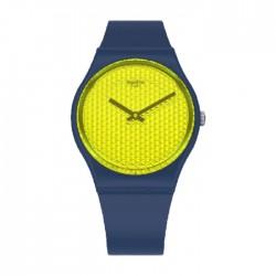 ساعة كوارتز للجنسين بعرض تناظري وحزام مطاط 34 ملم من سواتش (SWAGN266)