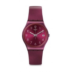 Swatch 34mm Unisex Analogue Rubber Watch (SWAGN724) - Maroon