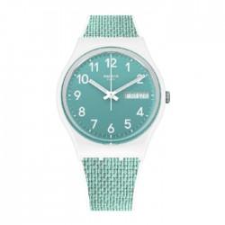 Swatch Quartz Analog 34mm Rubber Unisex Watch (SWAGW714)