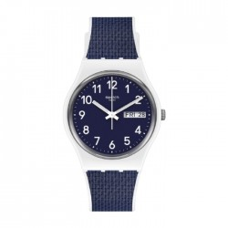 Swatch Quartz Analog 34mm Rubber Unisex Watch (SWAGW715)