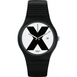 ساعة سواتش إكس-راتيد بعرض تناظري للجنسين - ٤١ ملم - أسود - (SWASUOB402)