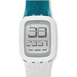 ساعة سواتش بعرض تناظري وحزام من المطاط للجنسين - ٣٩ ملم - أخضر (SWASURS102)