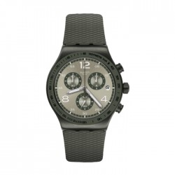 Swatch Quartz Chronograph 43mm Rubber Gents Watch (SWAYVM404)