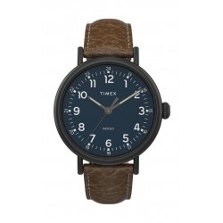 Timex 43mm Gent's Analog Leather Watch - (TW2T90800)v