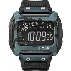 ساعة تايمكس شوك للرجال بعرض رقمي - حزام مطاطي TW5M18200CG - أسود