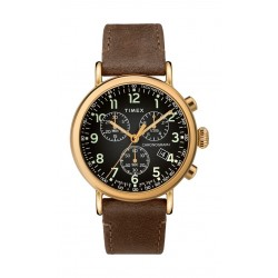 Timex Standard Chronograph 41mm Leather Strap Watch (TW2T20900) - Brown