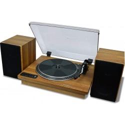 جهاز أسطوانات ستيريو بتقنية البلوتوث مع مكبرات صوت من توشيبا - بني (TY-LP200)
