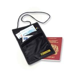 Travel Blue RFID Blocking Slimline Neck Wallet - Black