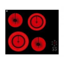 طباخ كهربائي مسطّح ومدمج من تيكنوجاز – بحجم ٦٠سم - ٤ شعلات من السيراميك - أسود (PN60VT4V)