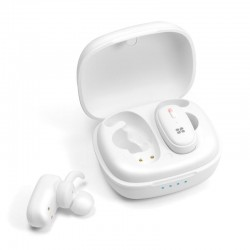 Promate TrueBlue 3 Deep Bass In-Ear Wireless Stereo Earpods - White