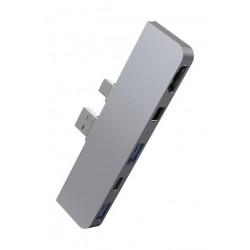 Hyper Surf Pro 4in1 USB Hub - Silver