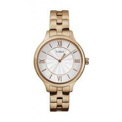 Timex TW2R28100 Trend Analog Ladies Watch – Brass Strap – Gold