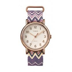 Timex Weekender Chevron 38mm Analog Ladies Fabric Watch - TW2R59000