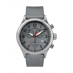 Timex Waterbury Traditional 42mm Chronograph Unisex Leather Watch - TW2R70700