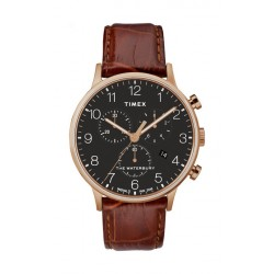 Timex Waterbury Classic 40mm Chronograph Gent's Leather Watch - TW2R71600