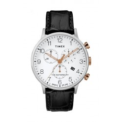 Timex Waterbury Classic 40mm Chronograph Gent's Leather Watch - TW2R71700