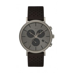 Timex Style Weekender 41mm Chronograph Unisex Leather Watch (TW2R80100) - Brown
