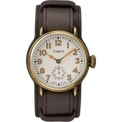 ساعة تايمكس ويلتون رجالية سوار جلدي ٣٨ ملم (TW2R87900)