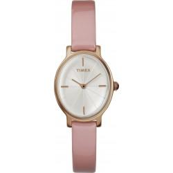 ساعة تايمكس ٢٤ ملم سوار جلدي نسائية  (TW2R94600)