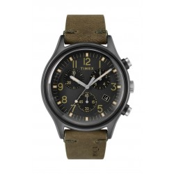 Timex MK1 Steel Chronograph 42mm Gents Leather Strap Watch - TW2R96600 b
