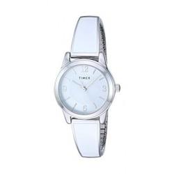 ساعة تايمكس النسائية بعرض تناظري - ٢٥ ملم مع حزام معدني (TW2R98300)