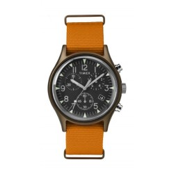 Timex MK1 Aluminum Chronograph 40mm Gents Fabric Strap Watch - TW2T10600 b