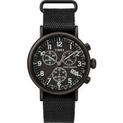ساعة تايمكس انديجلو كرونوغراف مع حزام من القماش للرجال - ٤١ ملم - أسود (TW2T212000)