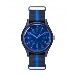ساعة تايمكس انديلجو ام كي ١ للرجال بعرض تناظري و حزام من قماش - ٤٠ ملم -  (TW2T25100)