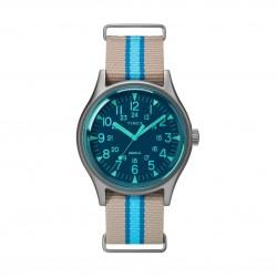 ساعة تايمكس MK1 التناظرية للرجال بسوار قماشي (TW2T25300) - رمادي أزرق