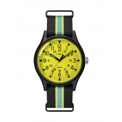 ساعة تايمكس انديلجو ام كي ١ للرجال بعرض تناظري و حزام من قماش - ٤٠ ملم - (TW2T25700)